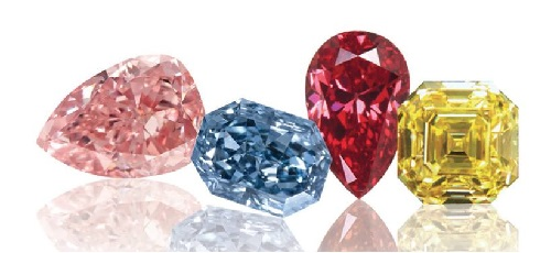 fancy shaped diamonds colored